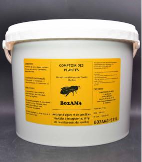 Algue - protéines végétales - abeille - nourrissement sirop - immunité