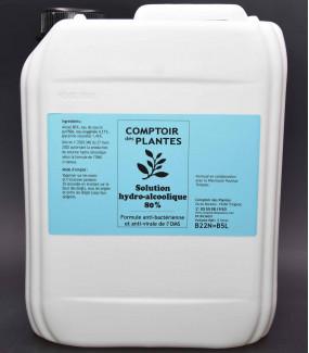Gel solution hydroalcoolique formule OMS 5 Litres
